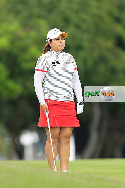 Inbee Park (KOR) on the 16th fairway during Round 3 of the HSBC Women's Champions at the Sentosa Golf Club, The Serapong Course in Singapore on Saturday 7th March 2015.<br /> Picture:  Thos Caffrey / www.golffile.ie