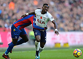 5th November 2017, Wembley Stadium, London England; EPL Premier League football, Tottenham Hotspur versus Crystal Palace; Jeffrey Schlupp of Crystal Palace holds Serge Aurier of Tottenham Hotspur