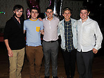 Michael Matthews celebrating his 21st birthday with friends Padraic Wright, Michael Connor, Shane Kierans and Ciaran Byrne in the Star & Crescent. Photo: Colin Bell/pressphotos.ie