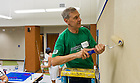 Oct. 4, 2013; Executive Vice President John Affleck-Graves paints a wall at a Catholic Charities facility in Fort Worth as part of the Shamrock Series Alumni Association service project.<br /> <br /> Photo by Matt Cashore/University of Notre Dame