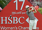 SINGAPORE - MARCH 05:  Lorena Ochoa of Mexico plays a shot on the par four 17th hole during the first round of HSBC Women's Champions at the Tanah Merah Country Club on March 5, 2009 in Singapore. Photo by Victor Fraile / The Power of Sport Images
