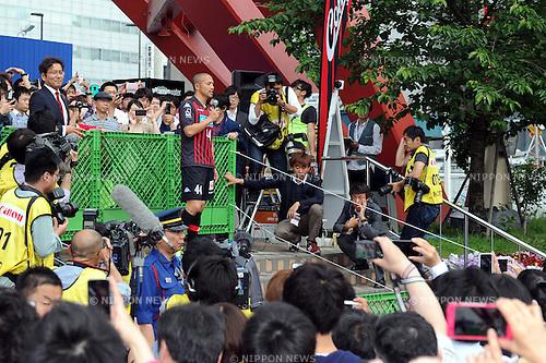Shinji Ono (Consadole), JUNE 9, 2014 - Football / Soccer : Consadole Sapporo's new signing player Shinji Ono during his presentation at Odori Park in Sapporo, Hokkaido, Japan. (Photo by AFLO)