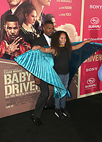 "14 June 2017 - Los Angeles, California - Jaime Foxx, Annalise Bishop.""Baby Driver"" Los Angeles Premiere held at the Ace Hotel. Photo Credit: F. Sadou/AdMedia"
