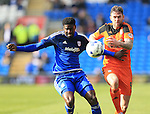 Cardiff?s Bruno Ecuele Manga tussles with Ipswich's Daryl Murphy during the Sky Bet Championship League match at The Cardiff City Stadium.  Photo credit should read: David Klein/Sportimage