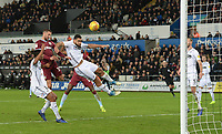 Aston Villa's Conor Hourihane scores his side's first goal  <br /> <br /> Photographer Ian Cook/CameraSport<br /> <br /> The EFL Sky Bet Championship - Swansea City v Aston Villa - Wednesday 26th December 2018 - Liberty Stadium - Swansea<br /> <br /> World Copyright © 2018 CameraSport. All rights reserved. 43 Linden Ave. Countesthorpe. Leicester. England. LE8 5PG - Tel: +44 (0) 116 277 4147 - admin@camerasport.com - www.camerasport.com