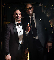 Jimmy Kimmel and Dave Chapelle pose backstage during the live ABC Telecast of The 90th Oscars&reg; at the Dolby&reg; Theatre in Hollywood, CA on Sunday, March 4, 2018.<br /> *Editorial Use Only*<br /> CAP/PLF/AMPAS<br /> Supplied by Capital Pictures