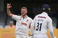 Jamie Porter of Essex claims the wicket of Adam Lyth during Essex CCC vs Yorkshire CCC, Specsavers County Championship Division 1 Cricket at The Cloudfm County Ground on 7th July 2019