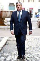 Antonio Tajani<br /> Rome February 20th 2019. The President of European Parliament Antonio Tajani enters the Senate to participate in the Assembly of parliamentarians and europarliamentarians of Forza center-right Italia Party<br /> Foto Samantha Zucchi Insidefoto