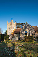 Church of St Mary the Virgin in Hambleden Village near Henley on Thames, Oxfordshire, Uk