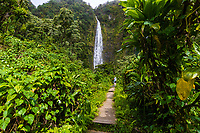 Makahiku Falls, Pipiwai Trail, Haleakala National Park, Kipahulu, Maui.