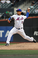 New York Mets pitcher Daniel Herrera #19 during a game against the Washington Nationals at Citi Field on September 15, 2011 in Queens, NY.  Nationals defeated Mets11-1.  Tomasso DeRosa/Four Seam Images