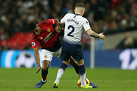Marcus Rashford of Manchester United and Kieran Trippier of Tottenham Hotspur during Tottenham Hotspur vs Manchester United, Premier League Football at Wembley Stadium on 13th January 2019