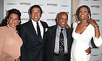Frances Gladney Robinson, Smokey Robinson, Eskedar Gobeze, Berry Gordy Jr. attending the Broadway World Premiere Launch for 'Motown: The Musical' at the Nederlander in New York. Sept. 27, 2012