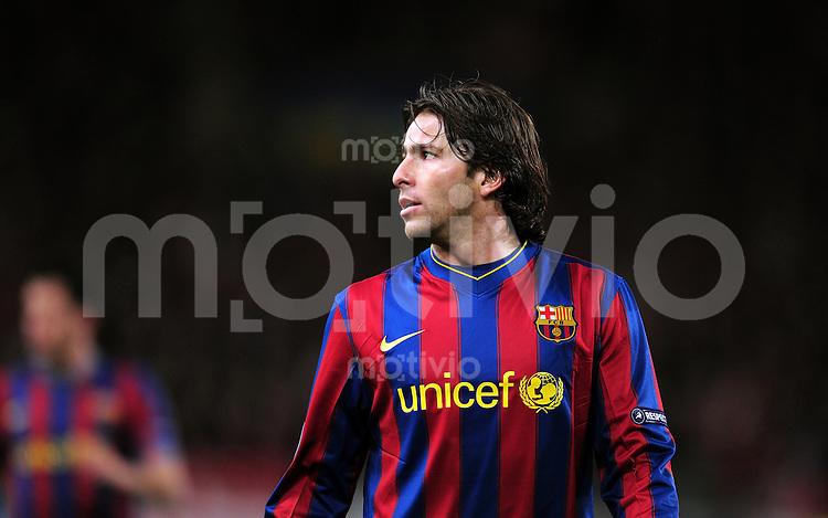 FUSSBALL  International  Champions   League  Hinspiel   SAISON 2009/2010    VfB Stuttgart -  FC Barcelona      23.02.2010 Maxwell  (Barca)