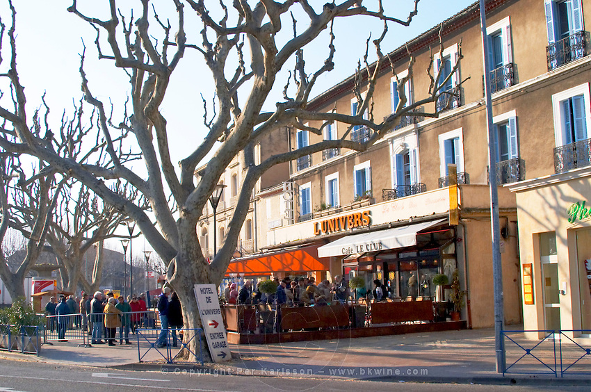The truffles market in Carpentras, Vaucluse, Rhone, Provence, France
