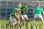 Daniel Collins Kerry in action against Dan Morrissey Limerick in the Munster Hurling League Round 4 at the Gaelic Grounds, Limerick on Sunday.