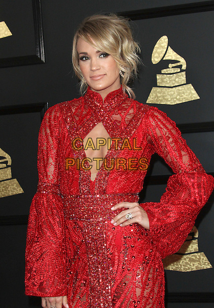 12 February 2017 - Los Angeles, California - Carrie Underwood. 59th Annual GRAMMY Awards held at the Staples Center.  <br /> CAP/ADM<br /> &copy;ADM/Capital Pictures