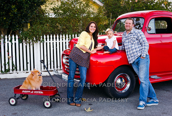 Family portrait and the '49 ford truck, San Luis Obispo, California