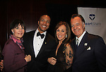 Another World's Linda Dano presents honoree Mike Woods meteorologist with The Linda Dano Heart Award and they pose with Rosanna Scotto (both on Fox 5 Good Day New York) and Sopranos Tony Sirico on March 21, 2013 at the HeartShare 25th Annual Spring Gala and Auction at the New York Marriott, NYC, NY.  (Photo by Sue Coflin/Max Photos)
