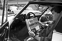 - workers assembly in the Arese  plant of Alfa Romeo car factory the day of the murder of first minister Aldo Moro by the terroristic group Red Brigades (Milan, May 1978) ....- assemblea operaia nello stabilimento della fabbrica di automobili Alfa Romeo di Arese il giorno dell'omicidio del primo ministro Aldo Moro da parte del gruppo terroristico Brigate Rosse (Milano, Maggio 1978) ....
