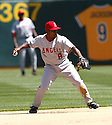 Chone Figgins, of the Los Angeles Angels, during their game against the Oakland A's on April 16, 2005...A's win 1-0..Rob Holt / SportPics.