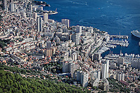 Areial view of downtown Mote Carlo, Monaco