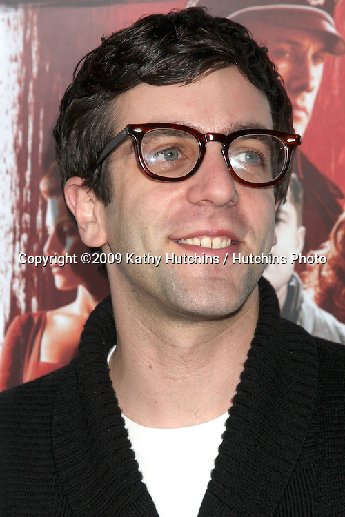 """B.J. Novak.arriving at the Blu-ray & DVD Launch of """"inglourious Basterds"""" .Beverly Cinema.Los Angeles,  CA.December 14, 2009.©2009 Kathy Hutchins / Hutchins Photo."""