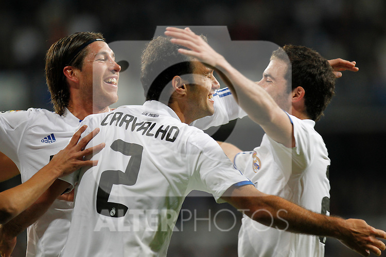Madrid.- (07/10/10)Estadio Santiago Bernabeu..Campeonato Nacional de Liga. Ricardo Carvalho goal..Real Madrid - Atco. Madrid...©Alex Cid-Fuentes/AlfaquiFotografia