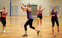 29.08.2017 Silver Ferns Te Paea Selby Ricket in action during the Silver Ferns training in Auckland. Mandatory Photo Credit ©Michael Bradley.