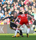 5th November 2017, Riverside Stadium, Middlesbrough, England; EFL Championship football, Middlesbrough versus Sunderland; Jonathan Williams of Sunderland cuts inside Jonathan Howson of Middlesbrough in the second half