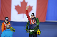 SPEED SKATING: CALGARY: Olympic Oval, 08-03-2015, ISU World Championships Allround, Final Podium Ladies, Ireen Wüst (NED), Martina Sábliková (CZE), ©foto Martin de Jong