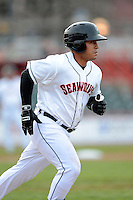 Erie Seawolves designated hitter Ramon Cabrera #38 during a game against the Erie Seawolves on April 23, 2013 at Jerry Uht Park in Erie, Pennsylvania.  Erie defeated Bowie 4-1.  (Mike Janes/Four Seam Images)
