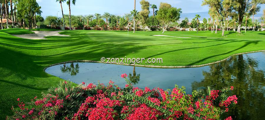 Palm Desert Ca. Oasis Country Club Panorama