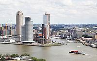 Nederland Rotterdam 2016 . Rotterdam West gezien vanaf de Euromast. De Wilhelminapier.  Foto Berlinda van Dam / Hollandse Hoogte