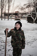 """Cossack military school near Volgograd (nearly 1,000km south-east of Moscow). Aged 7 to 17 the cadets studying in the school. The school is free. """"Apart from the purchase of the required daily, families do not have a penny to pay, we provide uniform parade, education, moral education, and shelter,"""" said Alexander Nikolaevich, the head of education."""