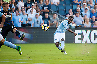Kansas City, KS - Wednesday August 9, 2017: Gerso Fernandes during a Lamar Hunt U.S. Open Cup Semifinal match between Sporting Kansas City and the San Jose Earthquakes at Children's Mercy Park.