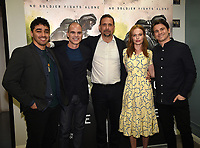"LOS ANGELES, CA - MARCH 25: (L-R) E.J. Bonilla, Michael Kelly, Jeremy Sisto, Kate Bosworth, and Jason Ritter attend the screening and panel discussion for National Geographic's ""The Long Road Home"" at the Harmony Gold Theater on March 25, 2018 in Los Angeles, California. (Photo by Frank Micelotta/NatGeo/PictureGroup)"