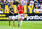 Solna 2014-07-12 Fotboll Allsvenskan AIK - Kalmar FF :  <br /> Kalmars Jonathan Ring deppar<br /> (Foto: Kenta J&ouml;nsson) Nyckelord:  AIK Gnaget Friends Arena Kalmar KFF depp besviken besvikelse sorg ledsen deppig nedst&auml;md uppgiven sad disappointment disappointed dejected