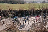 Edward Planckaert (BEL/Sport Vlaanderen-Baloise) in the breakaway group<br /> <br /> Omloop Het Nieuwsblad 2018<br /> Gent &rsaquo; Meerbeke: 196km (BELGIUM)