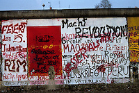 'The Reds' - Marx, Engels, Lenin, Stalin and Mao  -graffiti, Berlin Wall West zone.10 November 1989