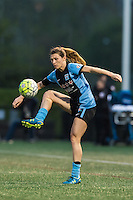 Allston, MA - Saturday, May 07, 2016: Chicago Red Stars defender Arin Gilliland (3) during a regular season National Women's Soccer League (NWSL) match at Jordan Field.