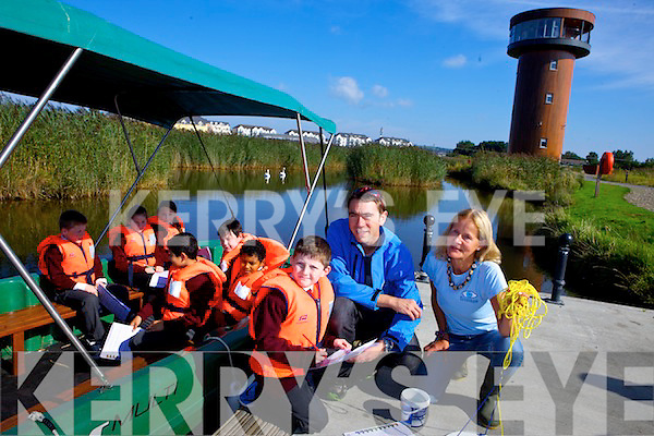 Moyderwell pupil David O'Sullivan with David McCormick (Tralee Bay Wetlands Ecologist and Kerry Regional Co-ordinator for Coastwatch) and Karin Dubsky (Coastwatch Ireland International and National Co-ordinator) and pupils Cassidy Barrett, Jesse Duggan, April O'Connor, Sami Adbrhman, Allen Wall Griffin and Fernando Covaciu pictured at the Coastwatch Survey Training at Tralee Bay Wetlands Centre on Monday morning.