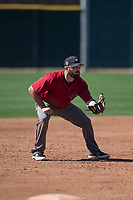 Arizona Diamondbacks third baseman Cody Decker (22) during a Spring Training game against Meiji University at Salt River Fields at Talking Stick on March 12, 2018 in Scottsdale, Arizona. (Zachary Lucy/Four Seam Images)