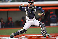 April 11, 2008:  University of Illinois Fighting Illini starting catcher Aaron Johnson (7) against the University of Michigan Wolverines at Illinois Field in Champaign, IL.  Photo by:  Chris Proctor/Four Seam Images