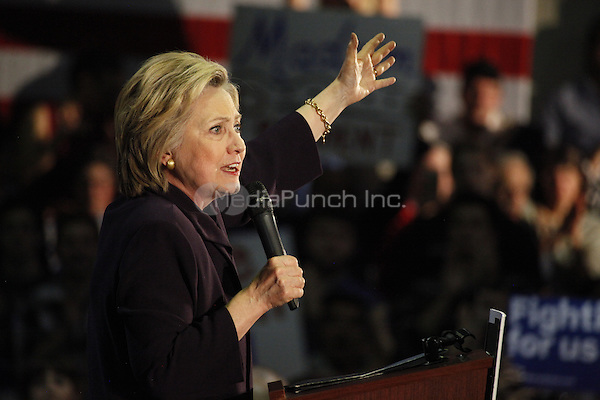 BLACKWOOD, NJ - MAY 11 : Hillary Clinton pictured at the Camden County Organizing Event at The Joseph Papiano Gymnasium at Camden County College in Blackwood, NJ on May 11, 2016.Credit: Star Shooter/MediaPunch