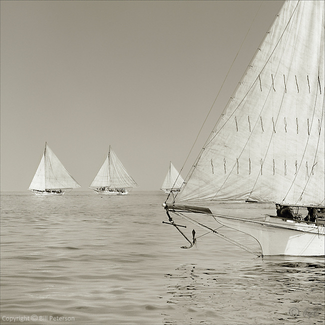 "A sepia memory in nearly perfect harmony on the Chesapeake Bay.  Photograph from the restored Limited Edition Skipjack Fine Art ""Skipjack Sunday"" collection."