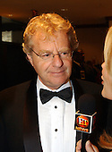 Jerry Springer is interviewed as he arrives for the 2003 White House Correspondents Dinner at the Washington Hilton Hotel in Washington, D.C., April 26, 2003..Credit: Ron Sachs/CNP