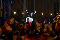 PREMIER DISCOURS DE EMMANUEL MACRON PRESIDENT DE LA REPUBLIQUE LE 7 MAI 2017 A LA PYRAMIDE DU LOUVRE A PARIS