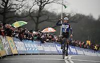 European Champion Quinten Hermans (BEL/Telenet-Fidea) wins the U23 race<br /> <br /> Grand Prix Adrie van der Poel, Hoogerheide 2016<br /> UCI CX World Cup