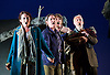 The Siege of Calais <br /> English Touring Opera at Hackney Empire, London, Great Britain <br /> rehearsal <br /> 2nd March 2015 <br /> <br /> music by Dinizetti <br /> words by Salvatore Cammarano <br /> directed by James Conway <br /> <br /> Paula Sides as Eleonora<br /> Catherine Carby as Aurelo<br /> Grant Doyle as Edoardo <br /> Craig Smith as Eustachio <br /> <br /> <br /> <br /> Photograph by Elliott Franks <br /> Image licensed to Elliott Franks Photography Services